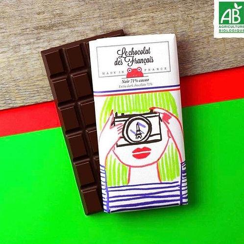 Tablette chocolat noir 71% cacao Le Chocolat des Français