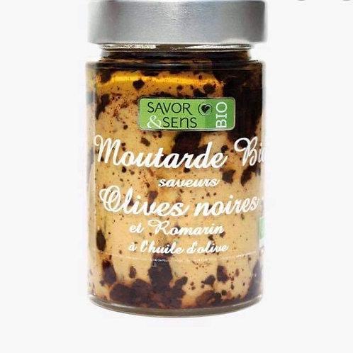 "Moutarde bio olives noires et romarin "" Savor and Sens """