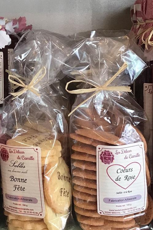 """Sablés au beurre salé """" Bonne fête """""""