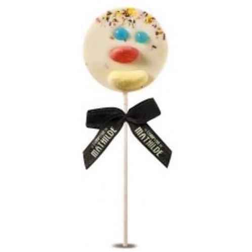 """Sucette chocolat blanc clown """" Comptoir de Mathilde"""""""