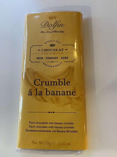 Tablette chocolat noir crumble banane