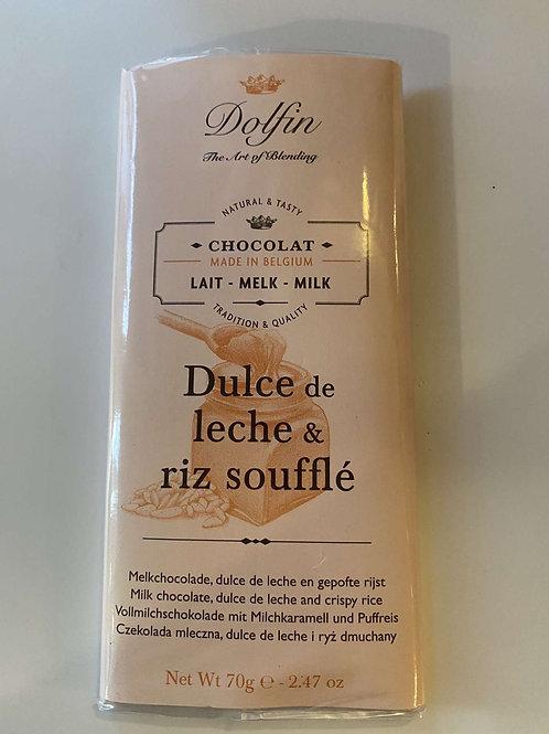 Tablette chocolat lait Dulce & leche riz soufflé