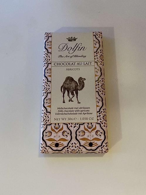 Tablette chocolat lait abricot