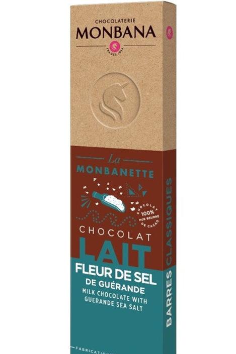 Tablette de chocolat lait fleur de sel
