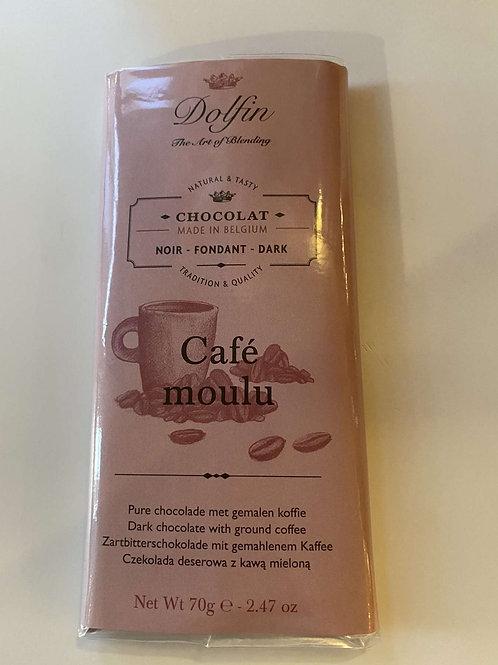 Tablette de chocolat noir et café moulu