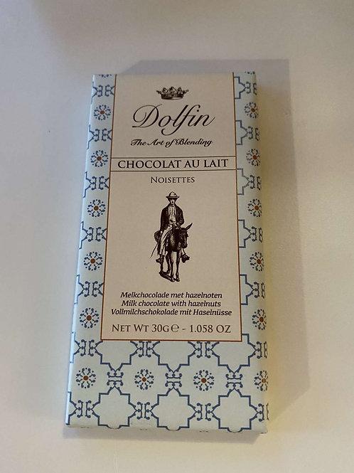 Tablette de chocolat lait noisette Dolfin