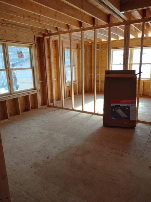 Construction Interior Bedroom Wall Framed