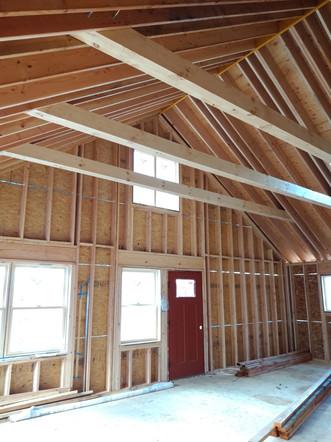 Construction Interior with cross beams 2