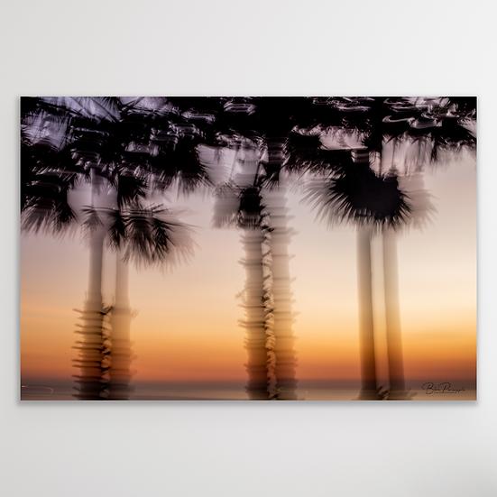 DANCING PALM TREES | Digital Download Print