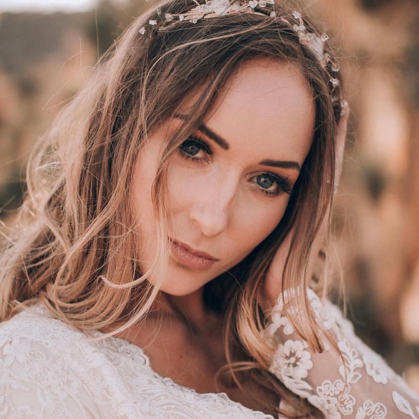 Rose Quartz Hair Piece Bridal