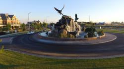 Utah St roundabout