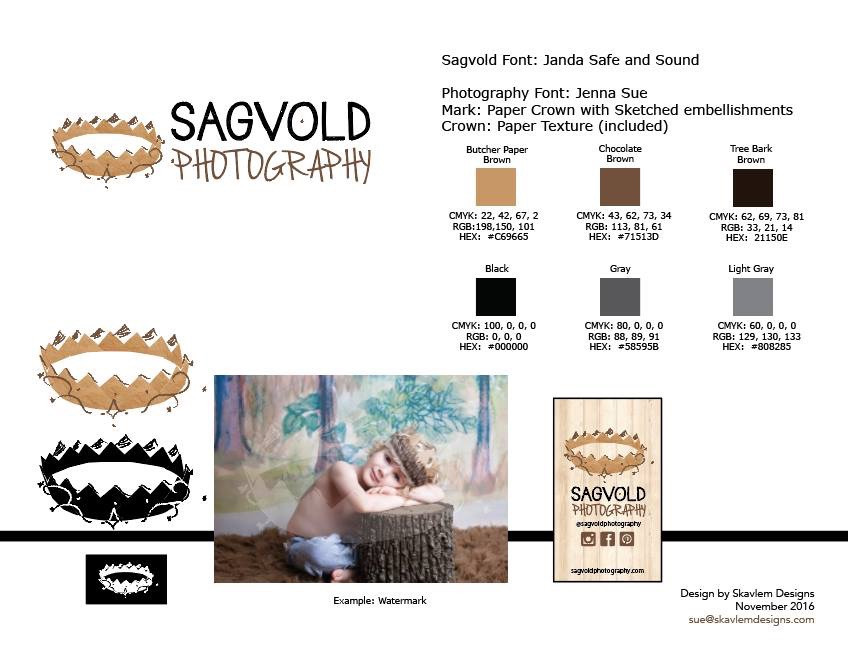 Sagvold Photography Logo Overview