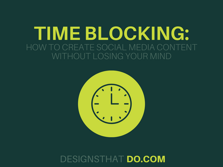 Time Blocking: How to Create Social Media Content Without Losing Your Mind