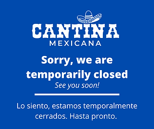 Sorry, we are temporarily closed (cantin