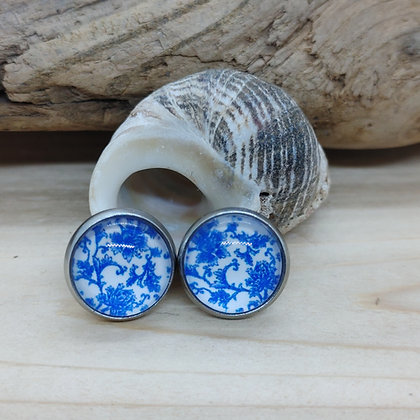 Blue China Pattern Earrings 7