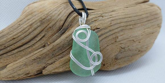 """Interstate"" Nova Scotia Sea Glass Pendant"