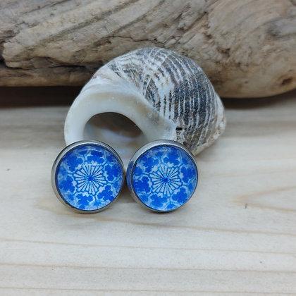 Blue China Pattern Earrings 5