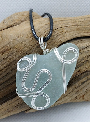 """Winding Road"" Nova Scotia Sea Glass Pendant"