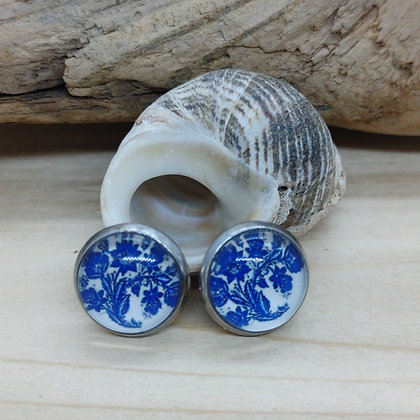 Blue China Pattern Earrings 6