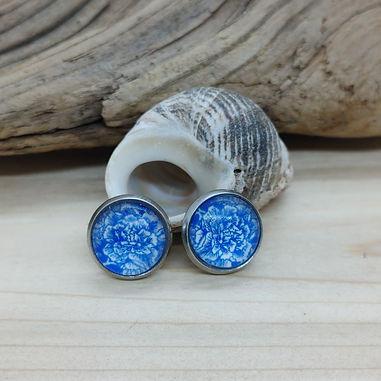 Blue China Pattern Earrings 4