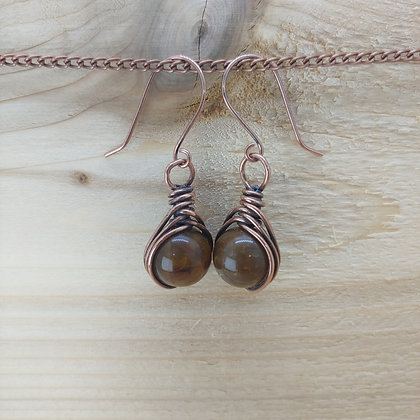 Double Wrapped Agate Earrings