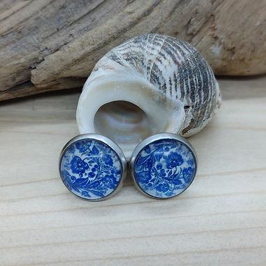 Blue China Pattern Earrings 8