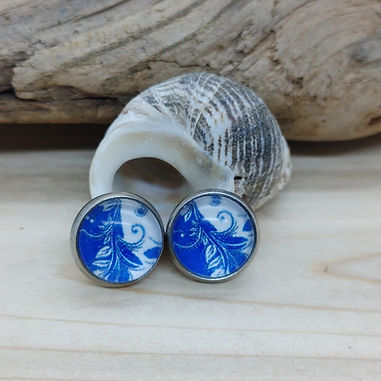 Blue China Pattern Earrings 2