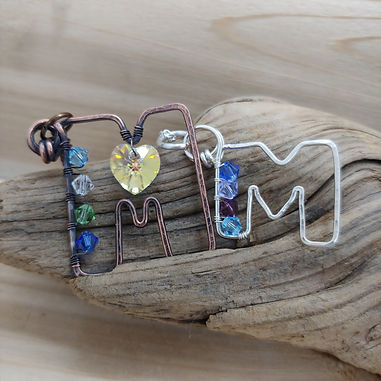 """""""M"""" is for Mom...a family birthstone pendant"""