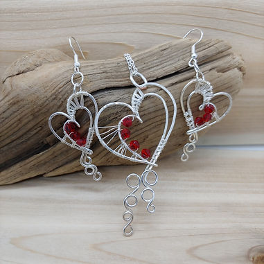Sweetheart Necklace and Earring Set 1