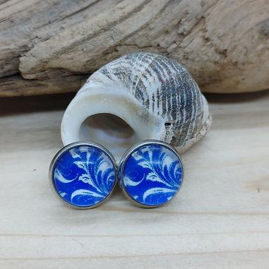 Blue China Pattern Earrings 1