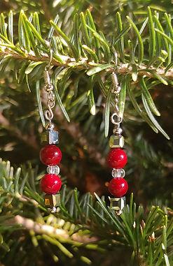 Christmas Bead earrings