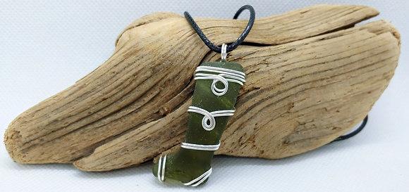 """Little Boot"" Nova Scotia Sea Glass Pendant"