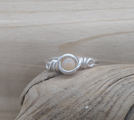 Welo Opal wire wrapped ring