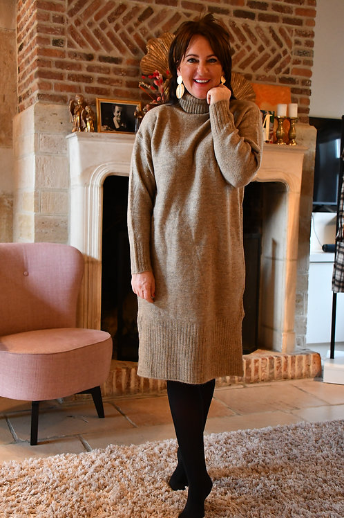 Nate Dress Taupe