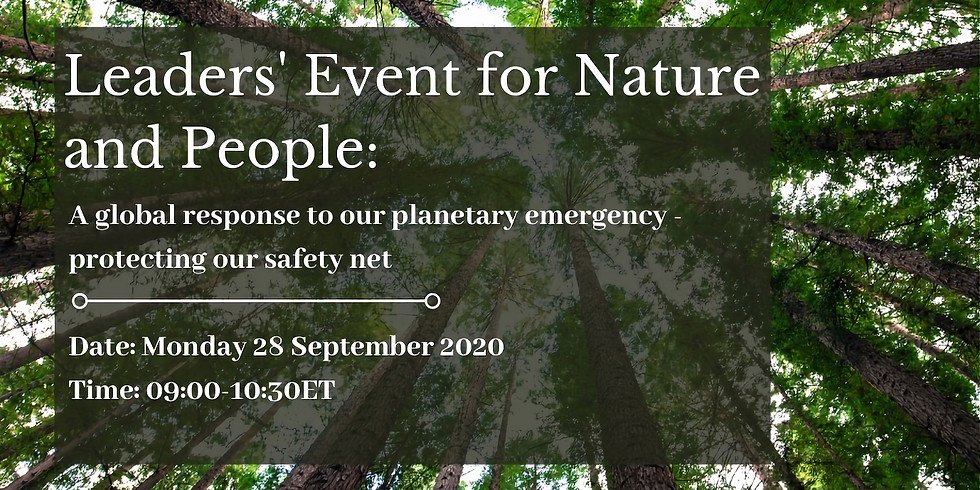Leaders' Event for Nature & People