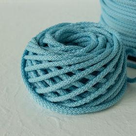 Yarn cake, Light blue thick yarn, braide
