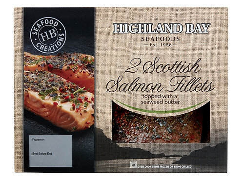 Two Scottish Salmon Fillets