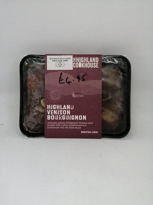 Highland cookhouse Venison Bourguignon (serves one)