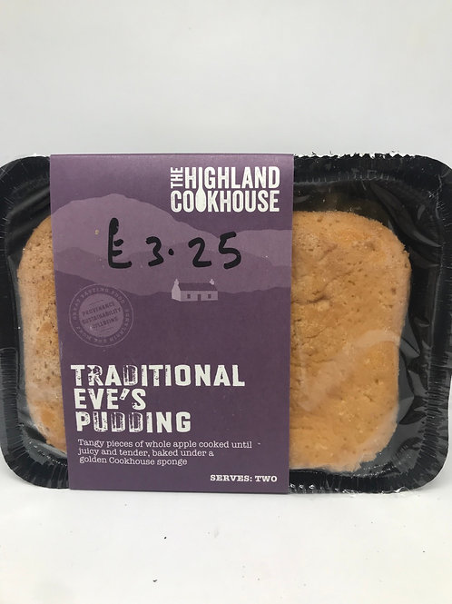 Traditional  Eves Pudding serves 1