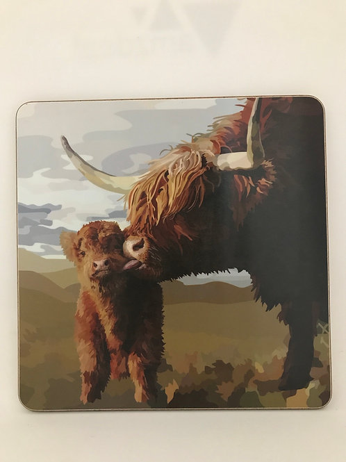 Highland Cow Pot Stand