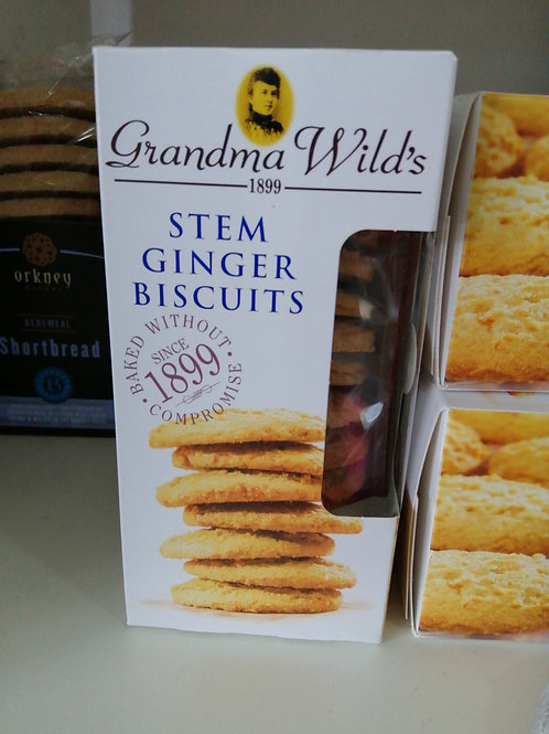 Grandma Wilds stem ginger biscuits