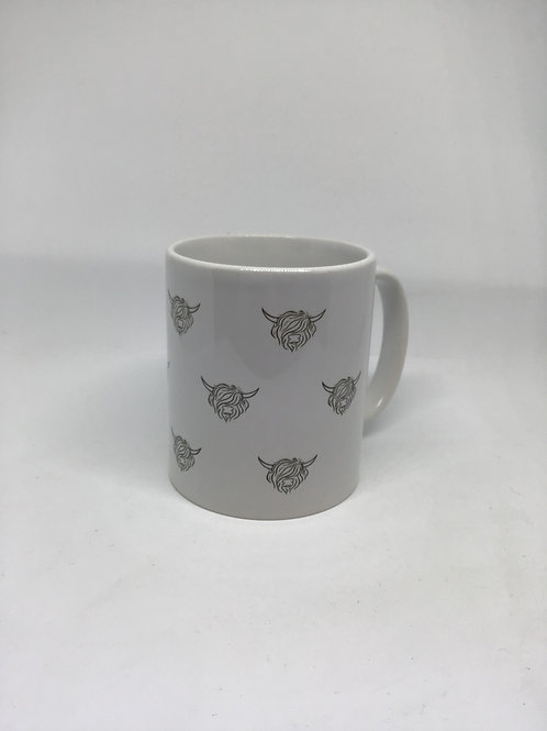 Highland Cow Mug with matching Coaster