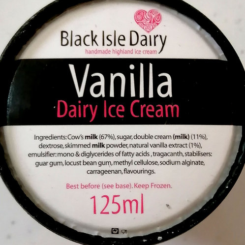 Black Isle vanilla ice cream