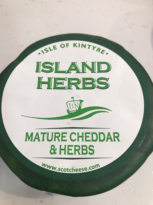 Kintrye Mature Cheddar Cheese with herbs