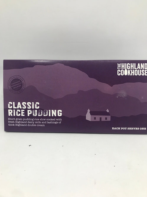 Classic rice pudding with double cream