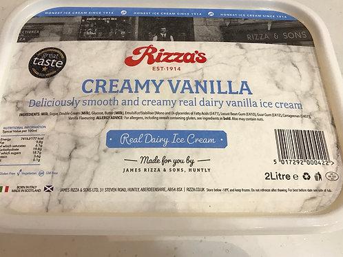 Creamy vanilla 2 Lt  Ice Cream