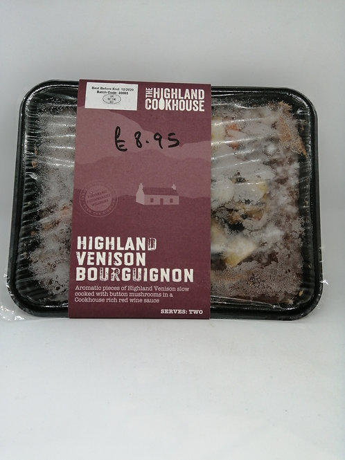 Highland Cookhouse Venison Bourguignon (serves two)
