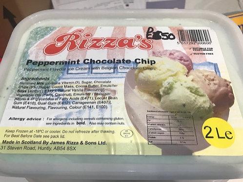Rizza Mint Choc-chip Ice Cream - 2L