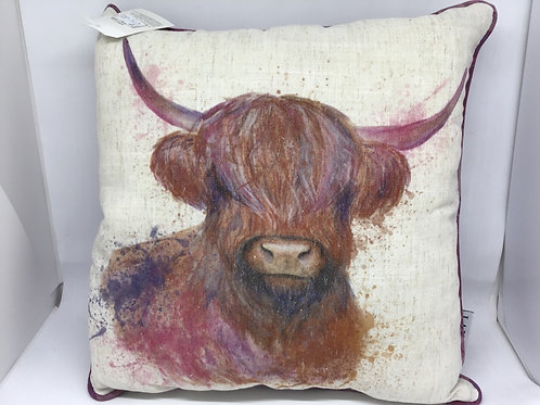 Highland Cow square cushion