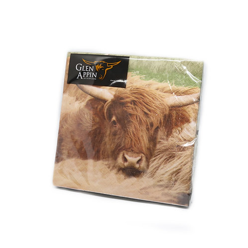 Highland Cow Print Napkins
